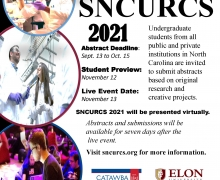 SNCURCS 2021 (State of NC Undergraduate Research and Creativity Symposium) Call for Abstracts