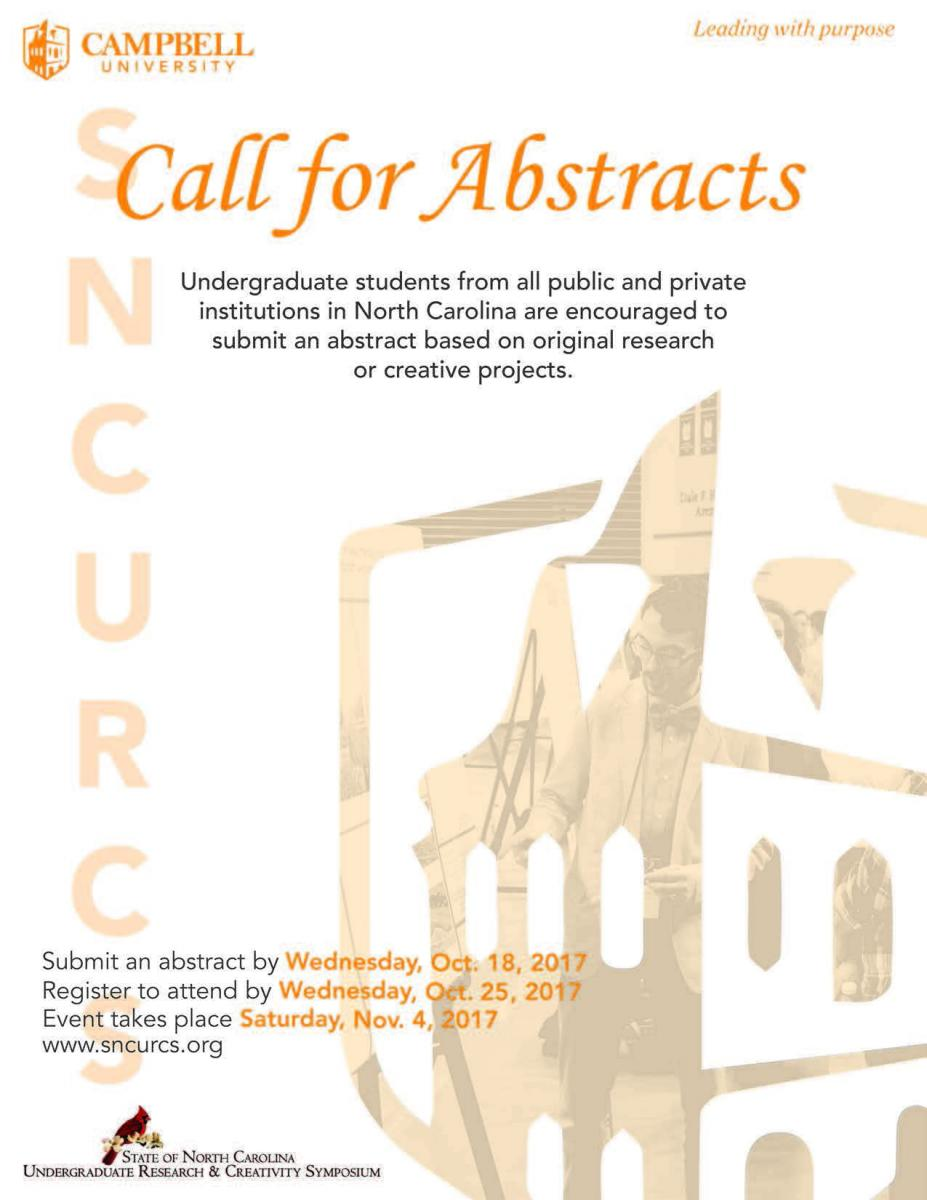 Flyer for SNCURCS 2017 Call for Abstracts