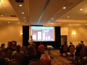 Alex Kirk gives an oral presentation